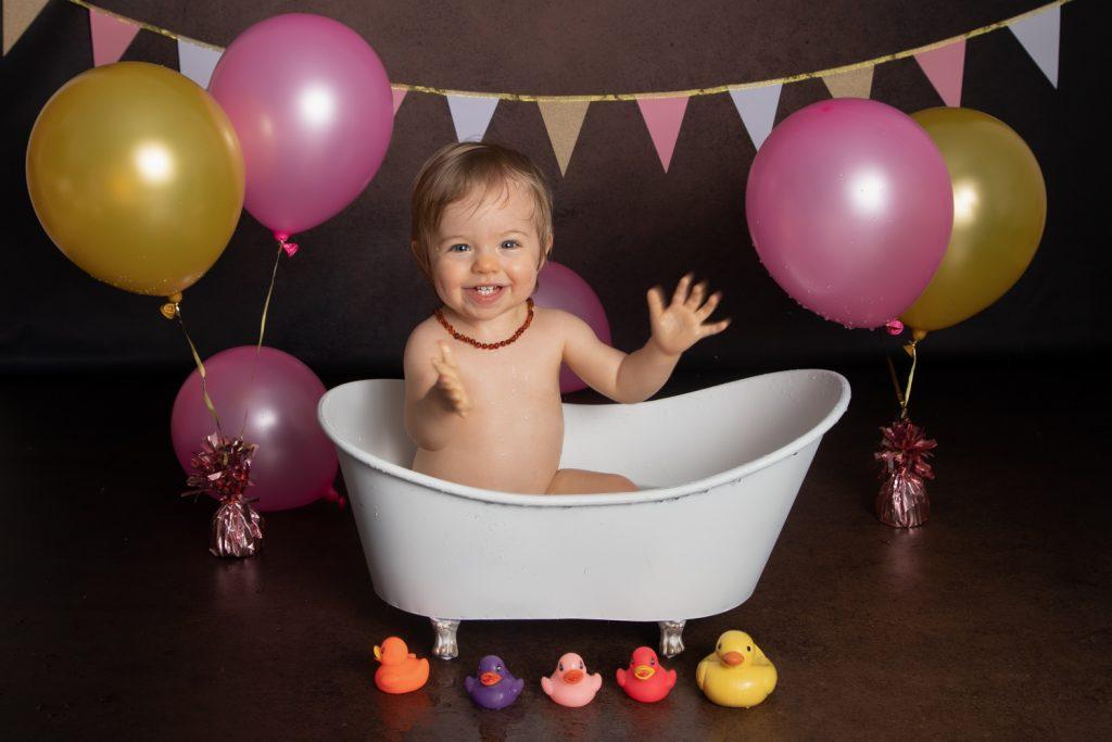 Séance photo-bain-anniversaire-rire