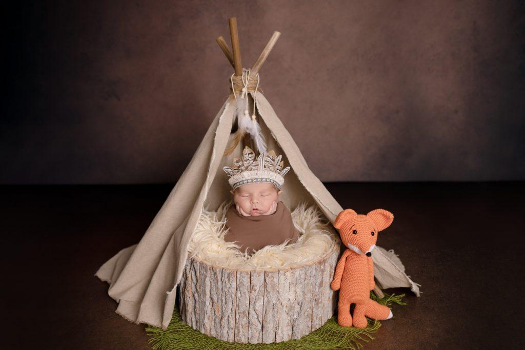 bébé-photographe en studio-Bruz-Saint-Grégoire-Vitré